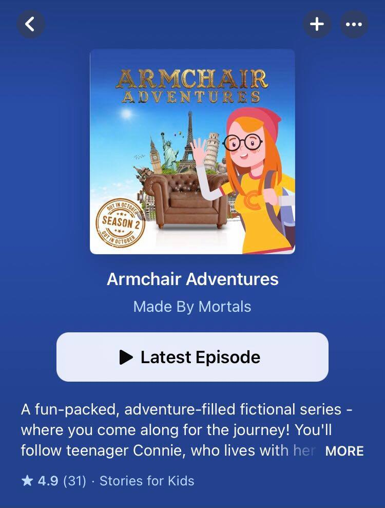 Image of the Armchair Adventures podcast on Apple Podcasts