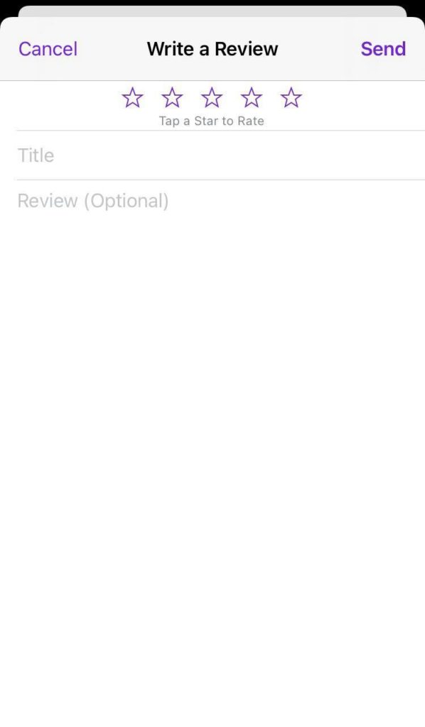 Write a review page on Apple Podcasts